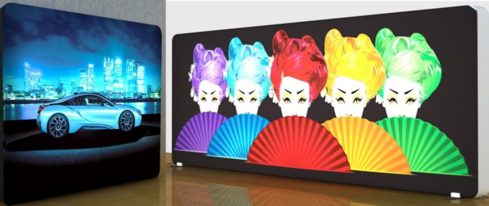 LED Backlit Pop Up Display